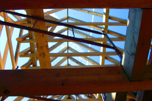 Granny annex built by the good local builder -pic shows roofing structure